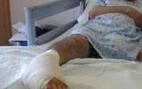 تعرّض الأحمد لإطلاق نار أثناء وجوده في سيارة الإسعاف في لبنان، مما أدّى لبتر رجله