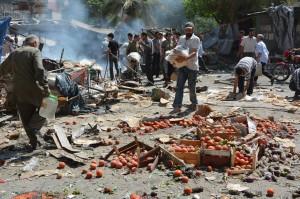 شهد عام 2015 تصاعداً كبيراً في عمليات استهداف الأسواق بصورة غير مسبوقة، حيث وثّقت اللجنة السورية لحقوق الإنسان (47) هجوماً على الأسواق