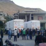 دخول مساعدات إغاثية إلى مضايا والفوعة