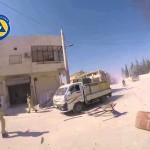 لحظة استهداف عناصر الدفاع المدني في سرمين 20-10-2015