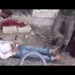 مجزرة في استهداف للسوق الشعبي في حرستا القنطرة في الغوطة الشرقية 27-10-2015