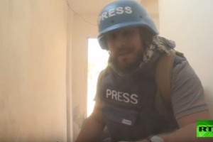 أصابة فريق صحفي روسي في سورية