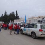 بدء دخول المساعدات الإنسانية إلى مضايا وكفريا والفوعة