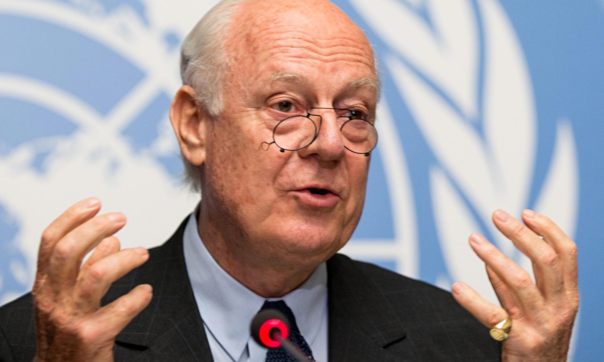UN envoy to Syria Staffan de Mistura