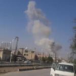 الطيران الحربي يستهدف مدينة حرستا