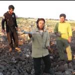 آثار الدمار في مدينة دارة عزة بعد غارة جوية 15-4-2016