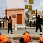 تنظيم داعش يُعدم ثلاثة شبان ويصلبهم في الشارع العام