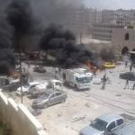 انفجار مفخخة أمام مسجد في إدلب
