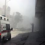مجزرة في حي طريق الباب بقصف بالبراميل
