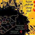 اللجنة توثّق ارتكاب 32 مجزرة في شهر نيسان/أبريل