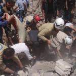 الطيران يستهدف سراقب في ريف إدلب