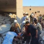 مجزرة في استهداف لقرية قرب سراقب