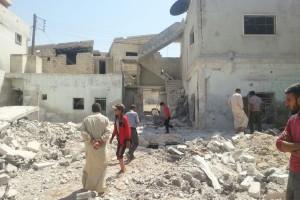 الطيران يرتكب مجزرة في معارة النعسان في إدلب