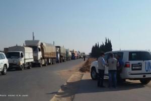مساعدات إنسانية تصل إلى الوعر في حمص