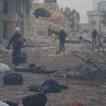 مجزرة مروعة في استهداف للنازحين في حلب