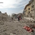مجزرة في استهداف لنازحين في حلب المحاصرة