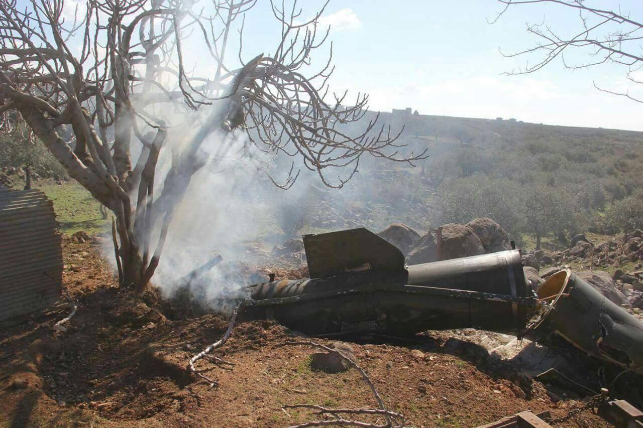 سقط صاروخ بالستي يُعتقد أنه أطلع من بارجة روسية على كفرنبل
