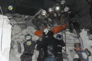 مجزرة في قصف ليلي على جسر الشغور