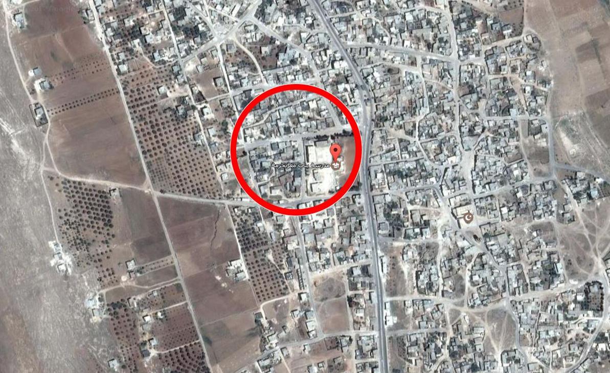 استهدف القصف الأبنية المجاورة للمدرسة