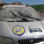 استهداف مركز الدفاع المدني في خان شيخون 4/4/2017