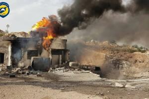 الطيران الروسي يستهدف مشفيين في ريف إدلب