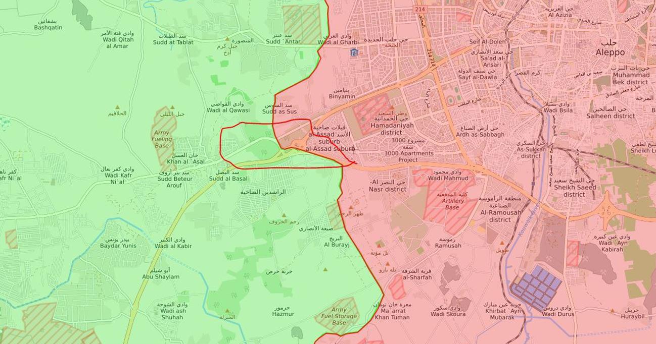 وقعت المجزرة في القسم الذي تُسيطر عليه المعارضة من الراشدين في حلب