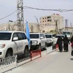 قافلة مساعدات تصل إلى بلدات في ريف دمشق