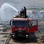 مقتل طفلة لاجئة في حريق لمخيم في لبنان