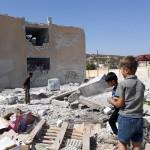 استهداف المدرسة الريفية الشمالية بقرية معرة حرمة 25/9/2017