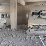 استهداف مشفى الشام المركزي بكفرنبل 26/9/2017