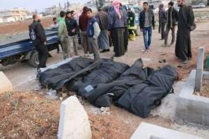 مجزرة بالنابالم في قصف على خان شيخون