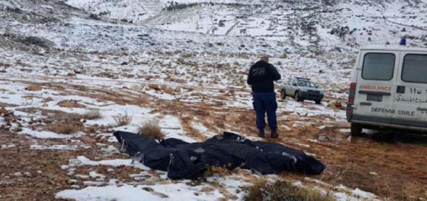 الموت ثلوج لبنان