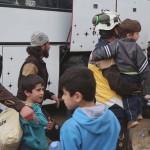 وصول دفعة من مهجري حرستا إلى إدلب 24-3/2018