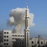 مجزرة في حزة بقصف للطيران والمدفعية