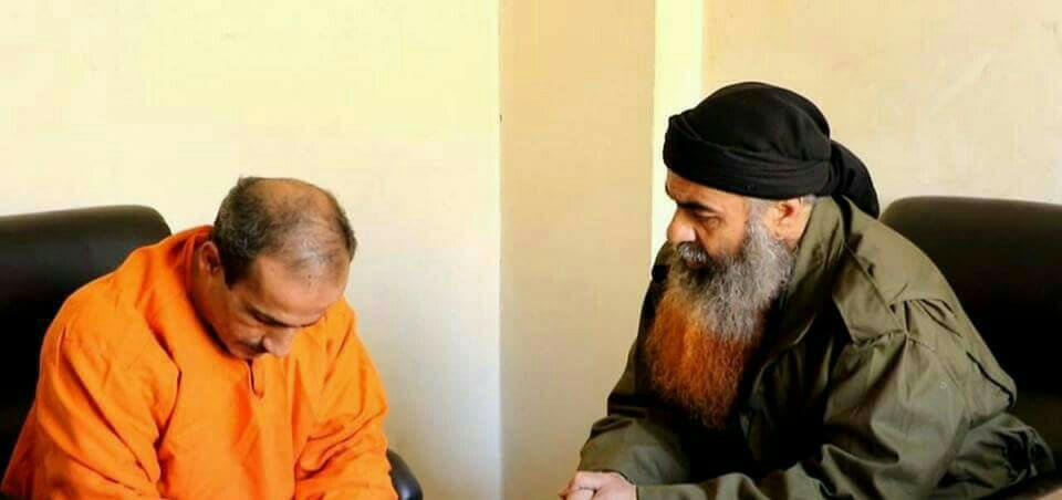 أبو فراس عتابا مع الشاب عماد عرابي قبل إعدامه