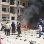 مجزرة في انفجار مفخخة وسط إدلب