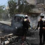 الطيران يرتكب مجزرة في تفتناز ويستهدف أنحاء إدلب