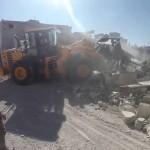 أعمال انتشال الضحايا بعد القصف الذي استهدف مدينة نوى 26/6/2018
