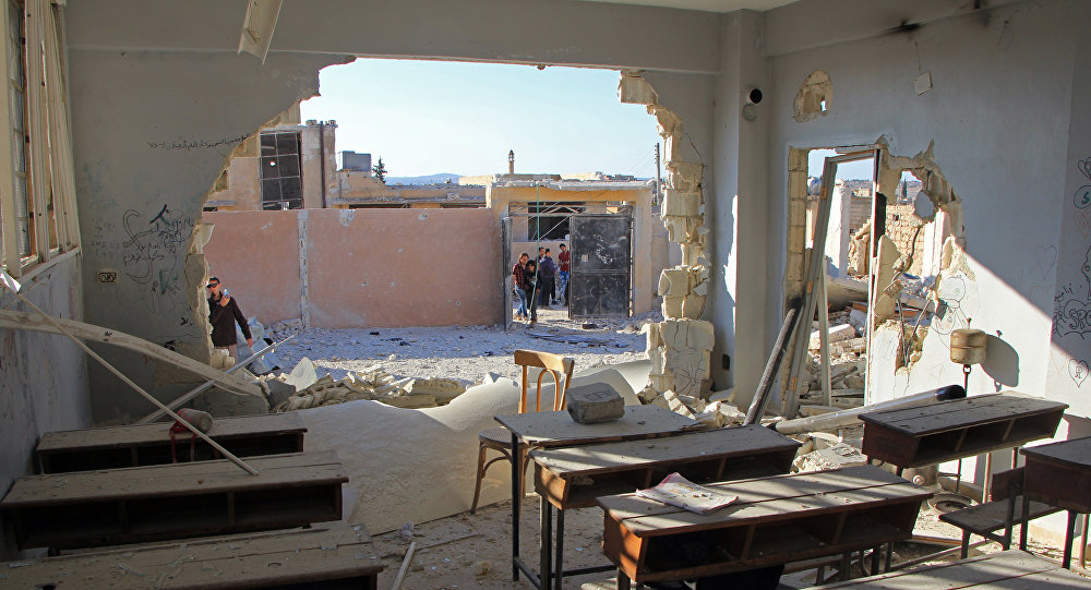 ثلث المدارس في سورية مدمرة بشكل جزئي أو كلي بسبب القصف