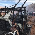 حريق في مخيم بلبنان يودي بحياة لاجئين سوريين