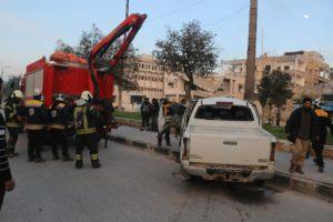 انفجار في إدلب يوقع إصابات